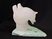 """Zen of Ice Fishing 7""""Lx6""""H Alabaster $900.00"""