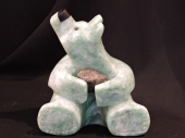 """Good as Gold 6""""Lx7""""H Soapstone $800.00"""
