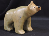 """Watching the Bird Fly 9""""Lx6""""H Soapstone $800.00"""